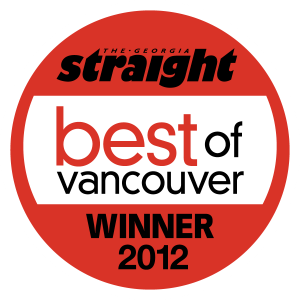 The Georgia Straight Best of Vancouver - Best Local Twitterer Winner 2012 - Best Local Blog Runner-Up