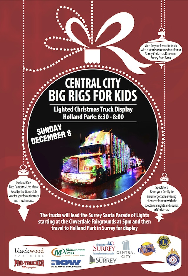 Central City Big Rigs For Kids Lighted Truck Parade 187 Vancouver Blog Miss604