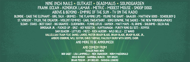 Pemberton Music Festival Lineup