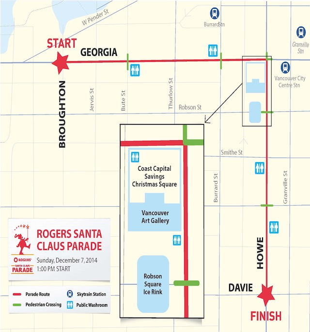 Rogers Santa Claus Parade Route 2014
