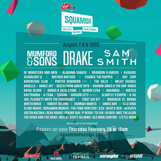 Squamish Valley Music Festival Lineup