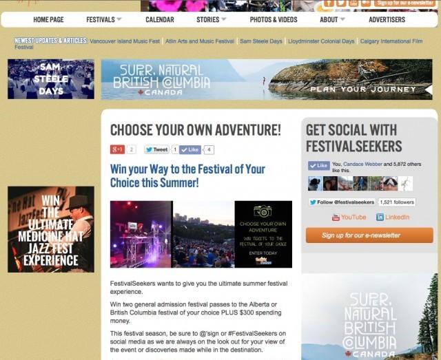 FestivalSeekersContest