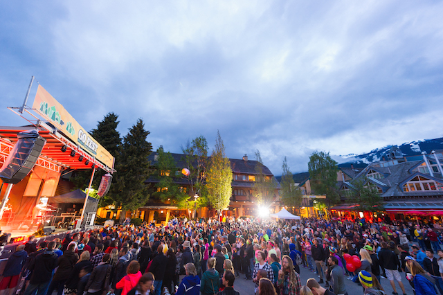 The Boom Booms performing in Whistler  Village Square