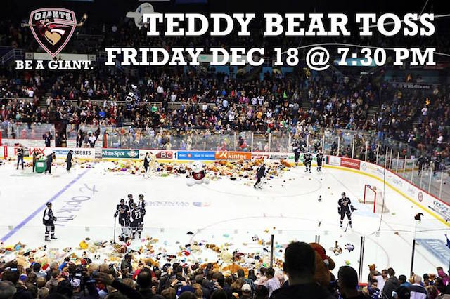 Vancouver Giants Teddy Bear Toss 2015