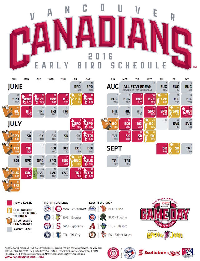 VanCanadiansEarlyBirdSchedule