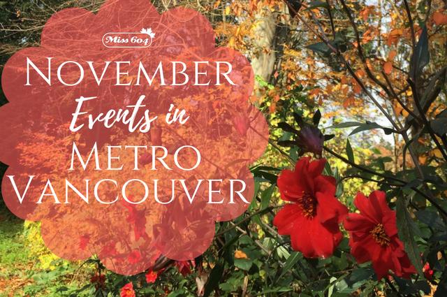 November Events in Metro Vancouver 2017