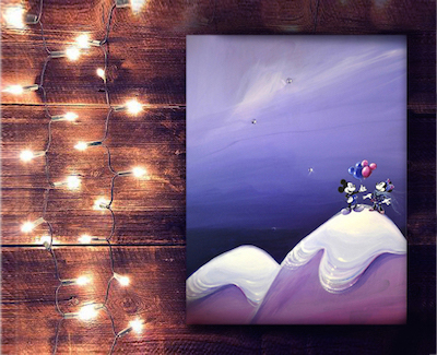 lights_lisa_painting_mickey
