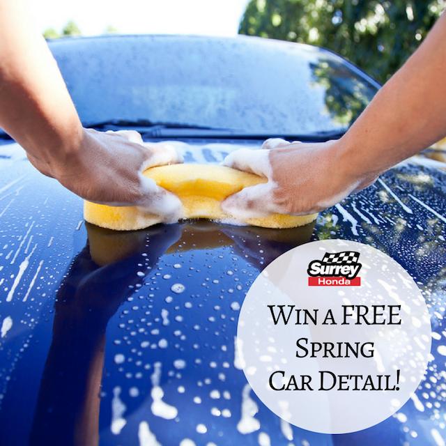 Interior Car Detailing Package: Win Detailing From Surrey Honda This Spring Break