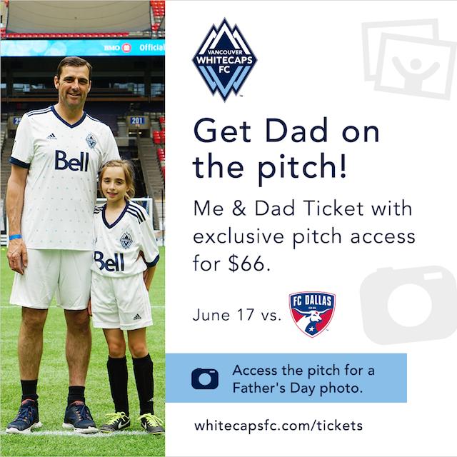 Whitecaps Father's Day Packages