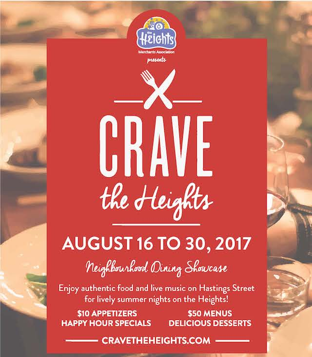 Crave Burnaby Heights Neighbourhood Dining Showcase