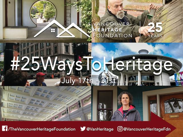 25 Ways to Heritage with Vancouver Heritage Foundation